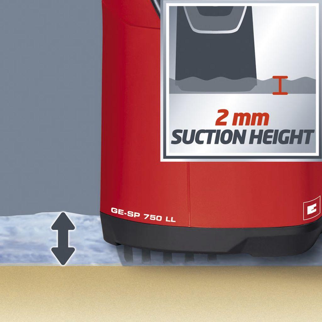 moćna potopna pumpa GE-SP 750 LL je neophodna za odstranjivanje vode iz spremnika za kišnicu