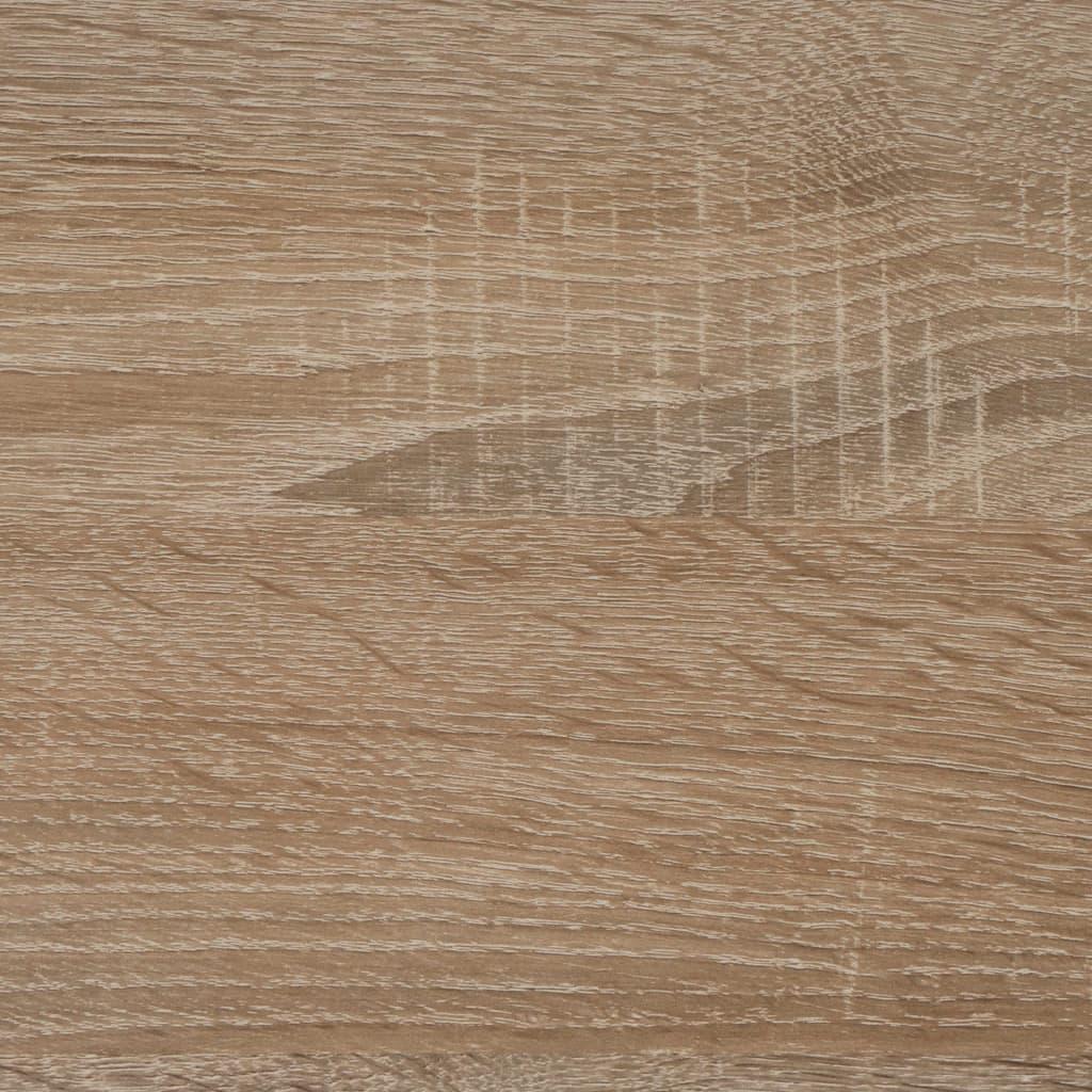 tako da i dalje služi za izlaganje vaših omiljenih ukrasnih predmeta. Sklopivi zidni stol marke FMD napravljen je od ploče od iverice obložene melaminom u profinjenoj boji hrasta koja će se uklopiti u gotovo svaki stil interijera.