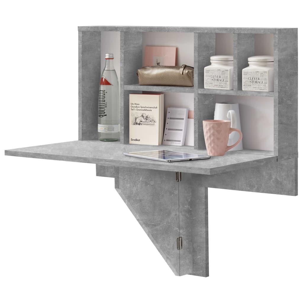Suvremeni zidni sklopivi stol s policom za izlaganje marke FMD izuzetno je praktičan i štedi prostor. Bit će savršen za manje kuhinje