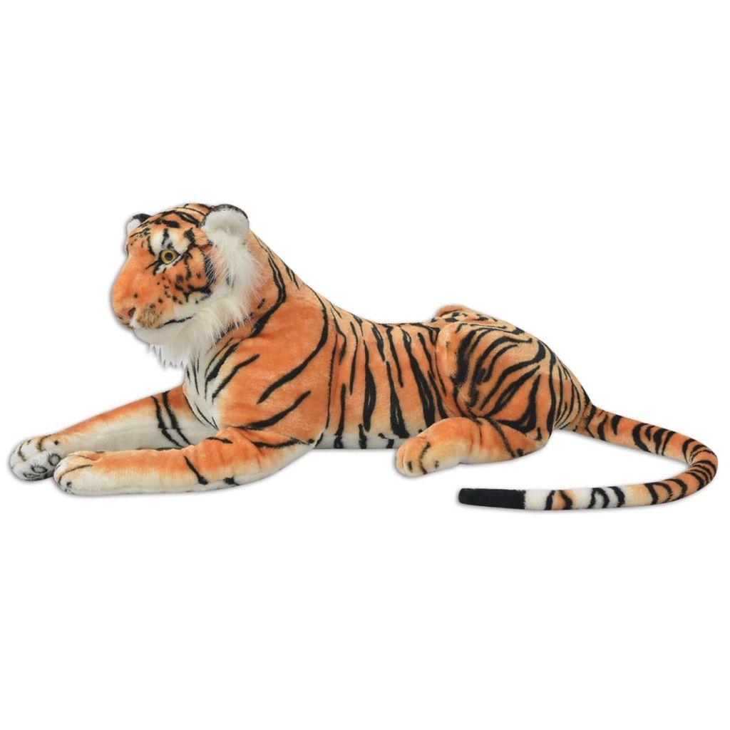 XXL plišanom igračkom tigra s životolikim detaljima i impresivnim izgledom! Tigar može biti idealan kompanion ili divan