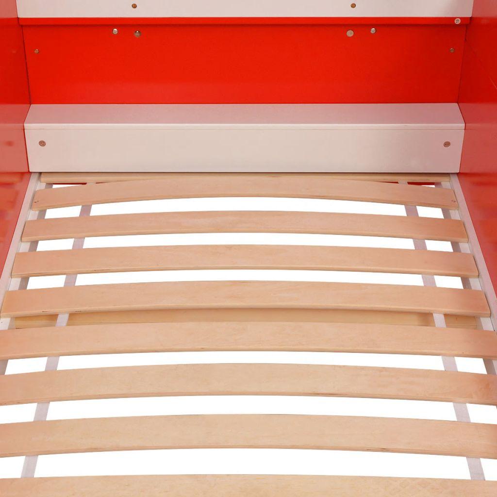 zasigurno će privlačiti pažnju u dječjoj sobi! Ovaj zanimljivi krevet je izrađen od visokokvalitetnog MDF-a i ima čvrstu drvenu podnicu