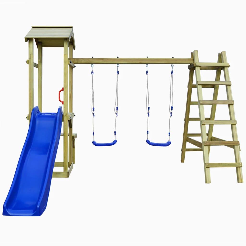 možete pretvoriti svoje dvorište u očaravajuće igralište za svoje mališane! Čvrsti okvir izrađen je od masivne