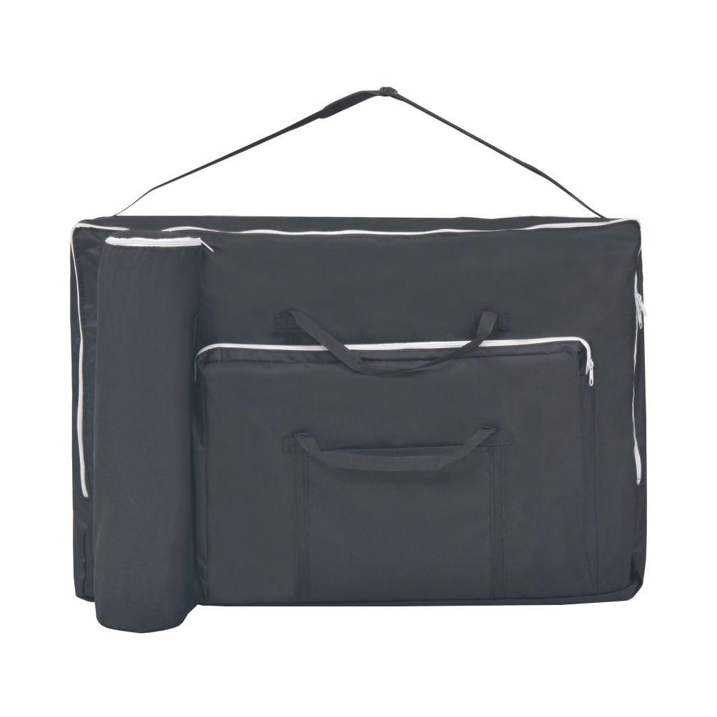 gležnjeva ili donjeg dijela trbuha za potporu ili namještanje. Stol za masažu može se lako sklopiti i pohraniti u torbu prigodnog oblika radi lakšeg transporta i skladištenja. Prijenosna torba je uključena u isporuku.