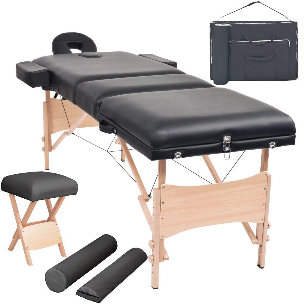 Ovaj set obuhvaća sklopivi stol za masažu s 3 zone