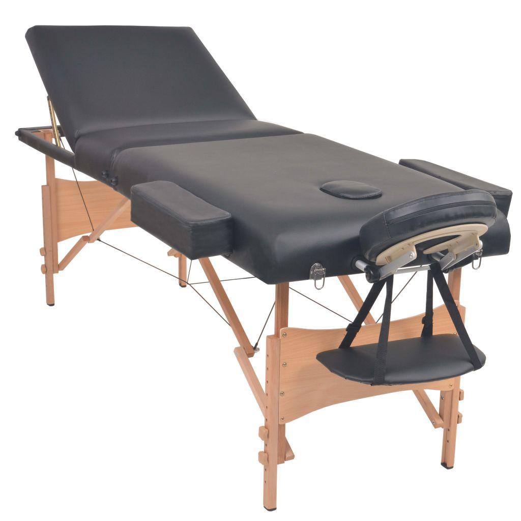 okrugli oslonac i polukružni oslonac i bit će idealan za profesionalnu i privatnu uporabu. Stol za masažu istolica imaju čvrst drveni okvir i tapecirani su visokokvalitetnom umjetnom kožom. Luksuzna površina za ležanje i sjedalo stolice