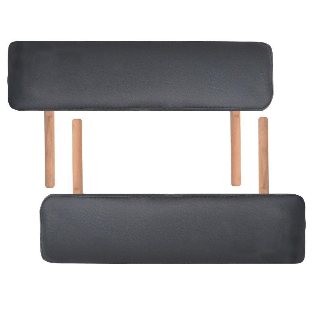 što korisniku omogućava udobno ležanje a terapeutu da odabere željenu radnu visinu. Stol može biti lako sklopljen radi lakšeg skladištenja i transporta. Uključena dva jastučića u različitim oblicima mogu se koristiti u razne svrhe. Mogu se postaviti pod koljena