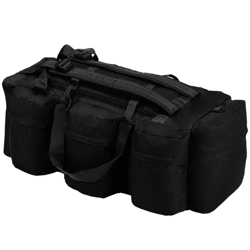 Ova svestrana torba u vojničkom stilu kombinira funkcionalnost ručne torbe