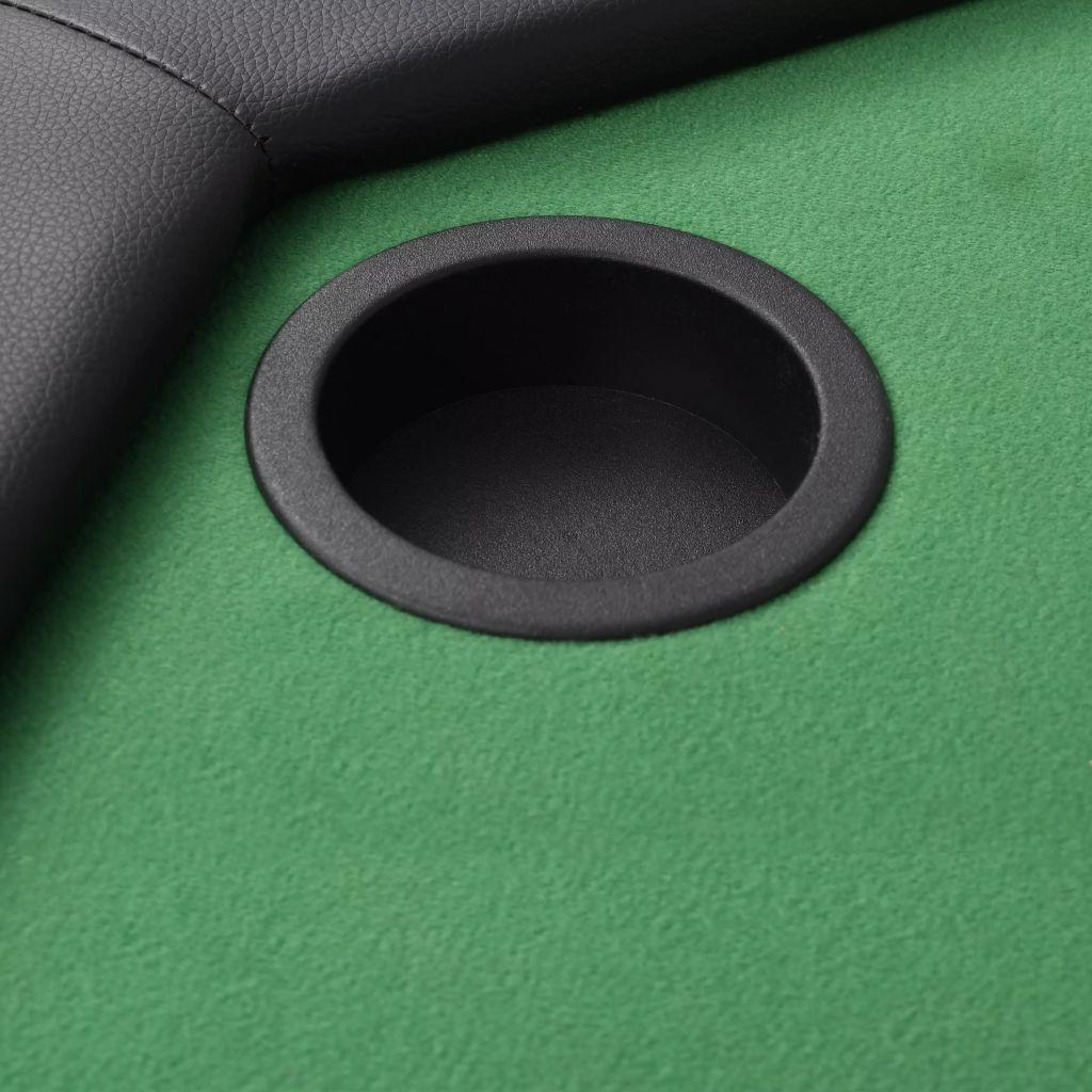 podstavljen rub od umjetne kože na koji igrači mogu nasloniti ruke. Ovaj stol za kockarnicu dizajniran je s 8 držača za čaše