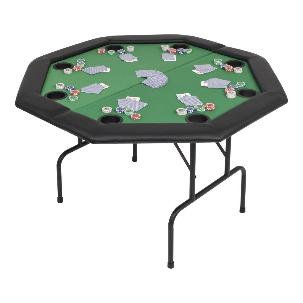 Organizirajte profesionalno igranje pokera u udobnosti vlastitog doma pomoću ovog sklopivog stola za poker. Površina stola izrađena je od materijala MDF s presvlakom od poliestera