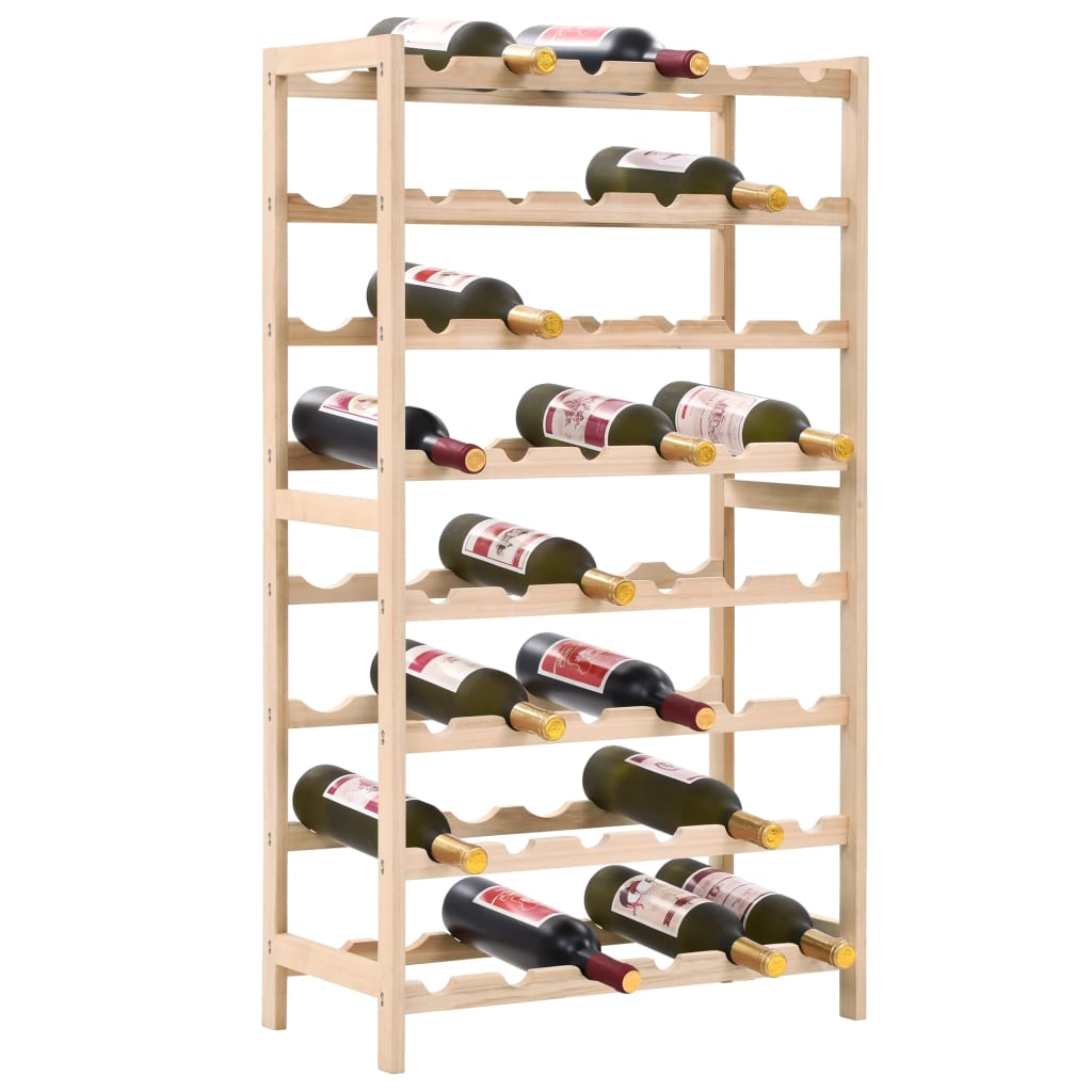 Naš stalak za vino pametno je rješenje za pohranu vinskih i drugih boca. Police za vino imaju 8 razina koje mogu smjestiti do 48 boca vina. Naš držač za vino izrađen je od masivne cedrovine