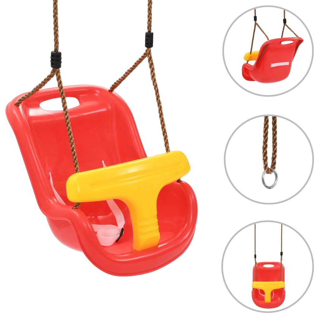 Zamislite koliko će vaša beba ili mališan biti radosni kad se budu zabavljali u dvorištu u ovoj sigurnosnoj ljuljački! Opremljena sigurnosnom prečkom i sigurnosnim pojasom