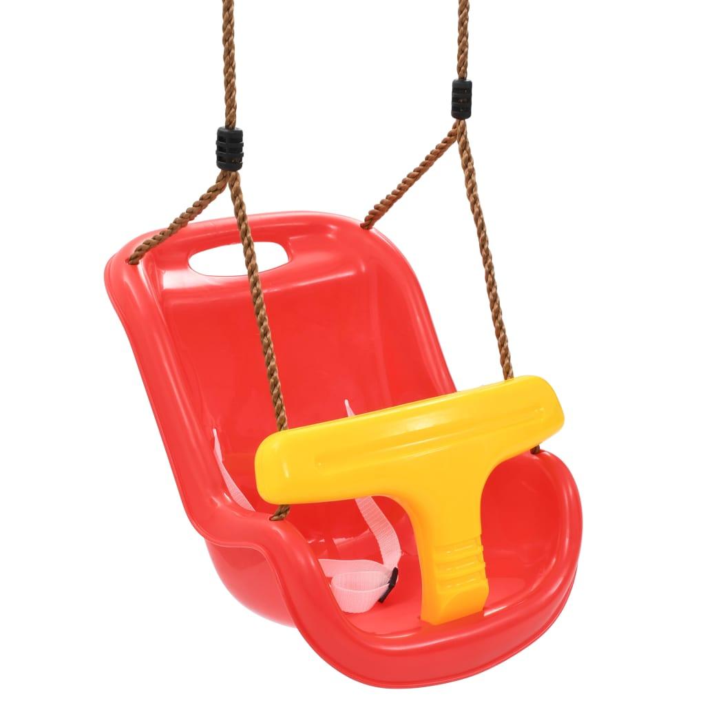 dječja ljuljačka pružit će udobnost i sigurnost vašim mališanima. Vesele boje također će privući njihovu pažnju. Napravljena od PP-a