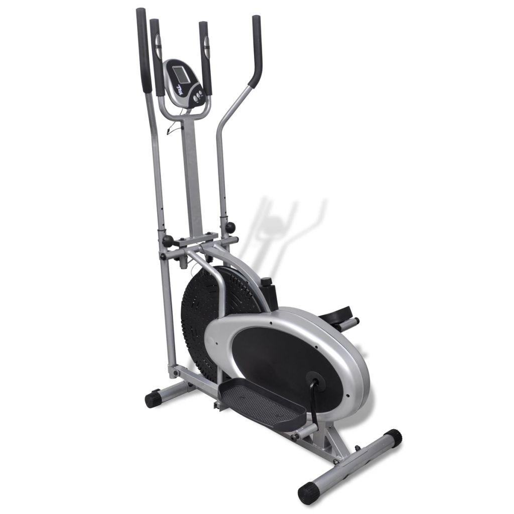 Kompaktni i čvrsti eliptični trenažer je odličan za trening u bilo kojem kućanstvu.S višestrukom kontrolom otpora i funkcijama računala