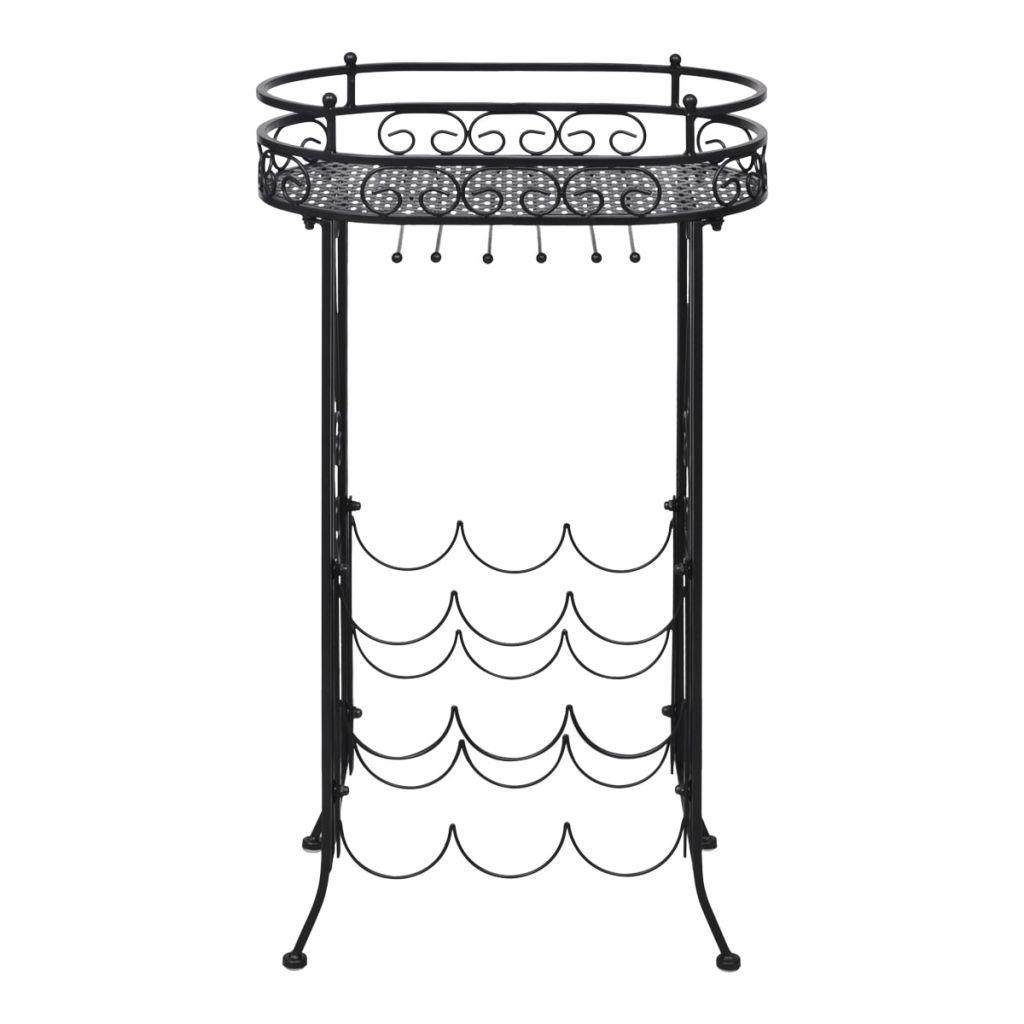 ovaj vinski stalak u potpunosti ima praškastu oblogu protiv hrđe i trajat će generacijama! Ovaj stalak za vino ima prostora za 9 boca. Opremljen rešetkastom pločom