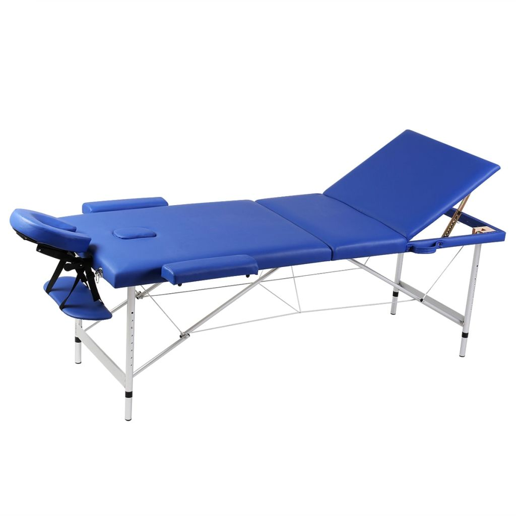 Sklopivi trodijelni stol za masažu s aluminijskim okvirom pogodan je za masažu