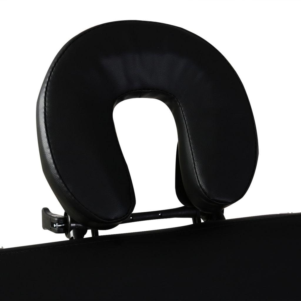 a terapeutu da odabere željenu radnu visinu. Stol se lako sastavlja. Može se preklopiti u oblik kofera. Torba za prijenos je uključena u isporuku za jednostavan transport i pohranu.