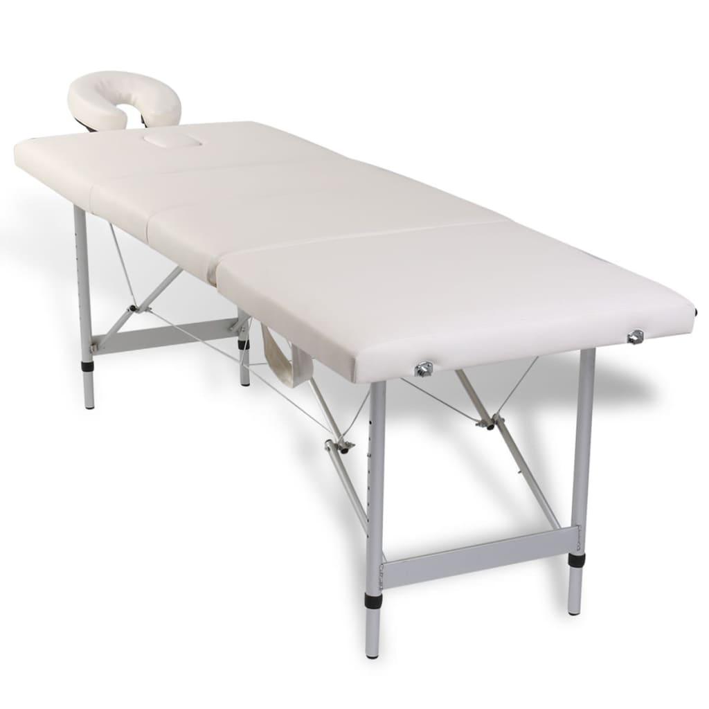 četvorodijelni stol za masažu s aluminijskim okvirom