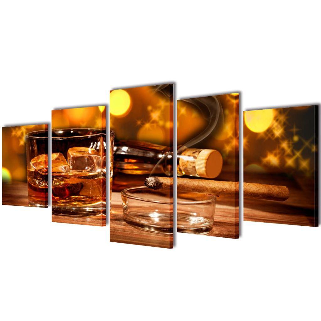 Ovaj 5-dijelni set slika na platnu će biti savršeni ukras za vaš dnevni boravak