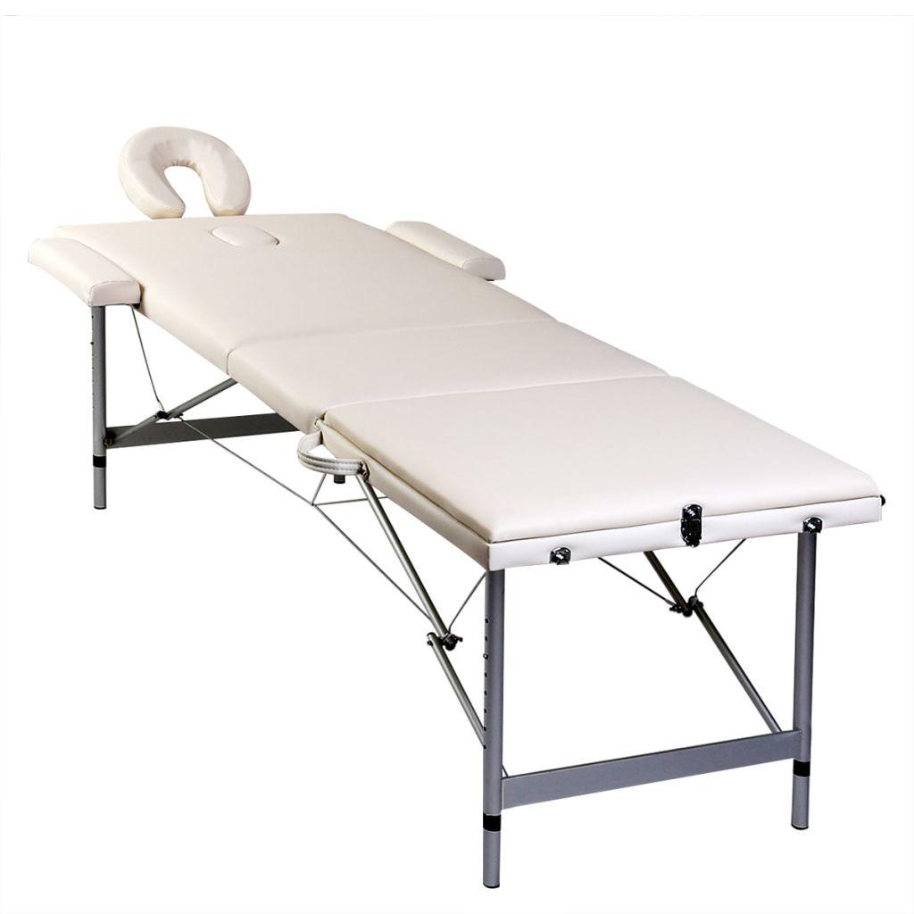 jastuk stola je vrlo udoban i otporan na dezinfekcijska sredstva i ulja za masažu. Nasloni za glavu i ruke su podesivi kao i visina stola