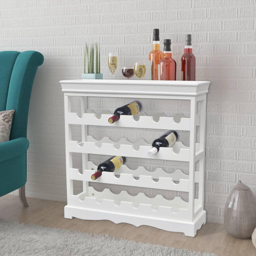 Ovaj visokokvalitetni bijeli stalak za vino će se idealno uklopiti u vaš dom