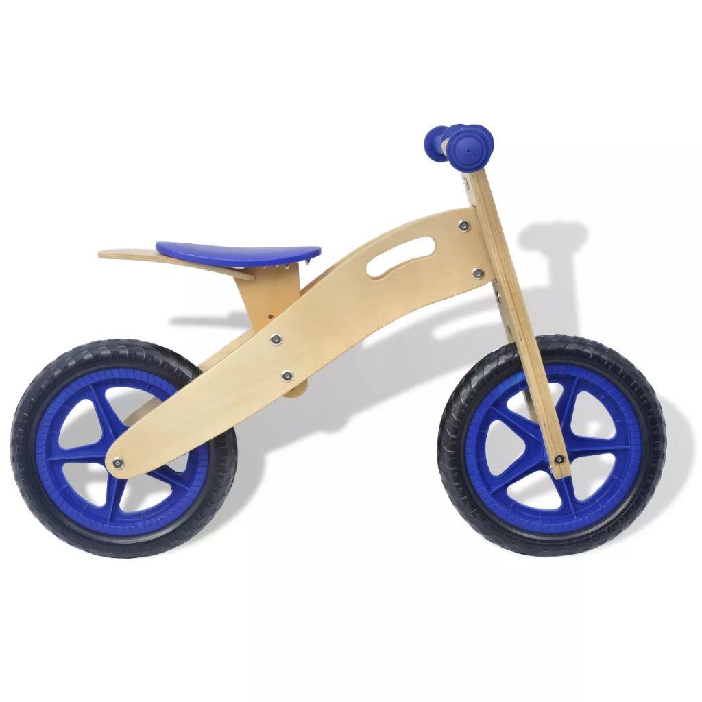 ako je dijete nestrpljivo da ostavi tricikl i za početak vožnje na dva kotača. Izrađen od jakog drveta