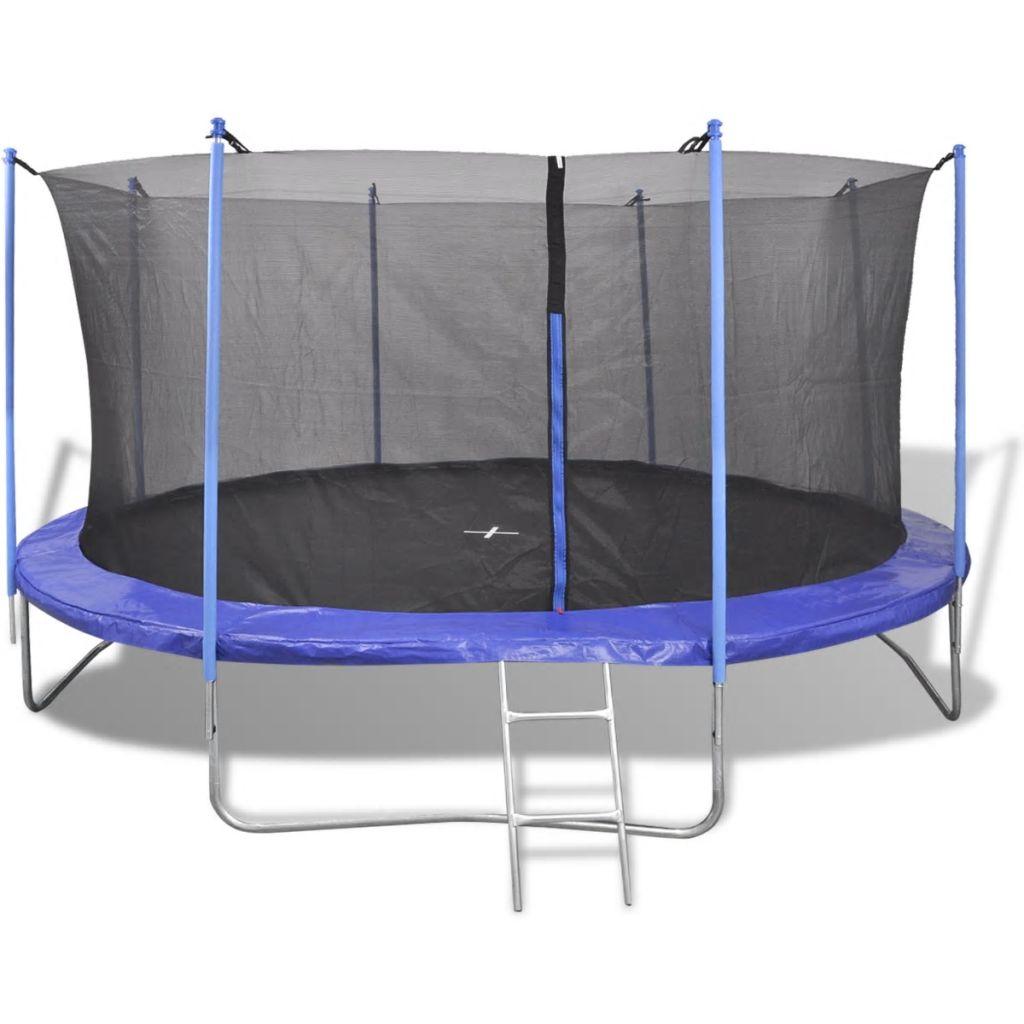 Ovaj trampolin ima izdržljivu sigurnosnu podlogu sa maksimalnim kapacitetom tereta 150 kg. 80 opruga