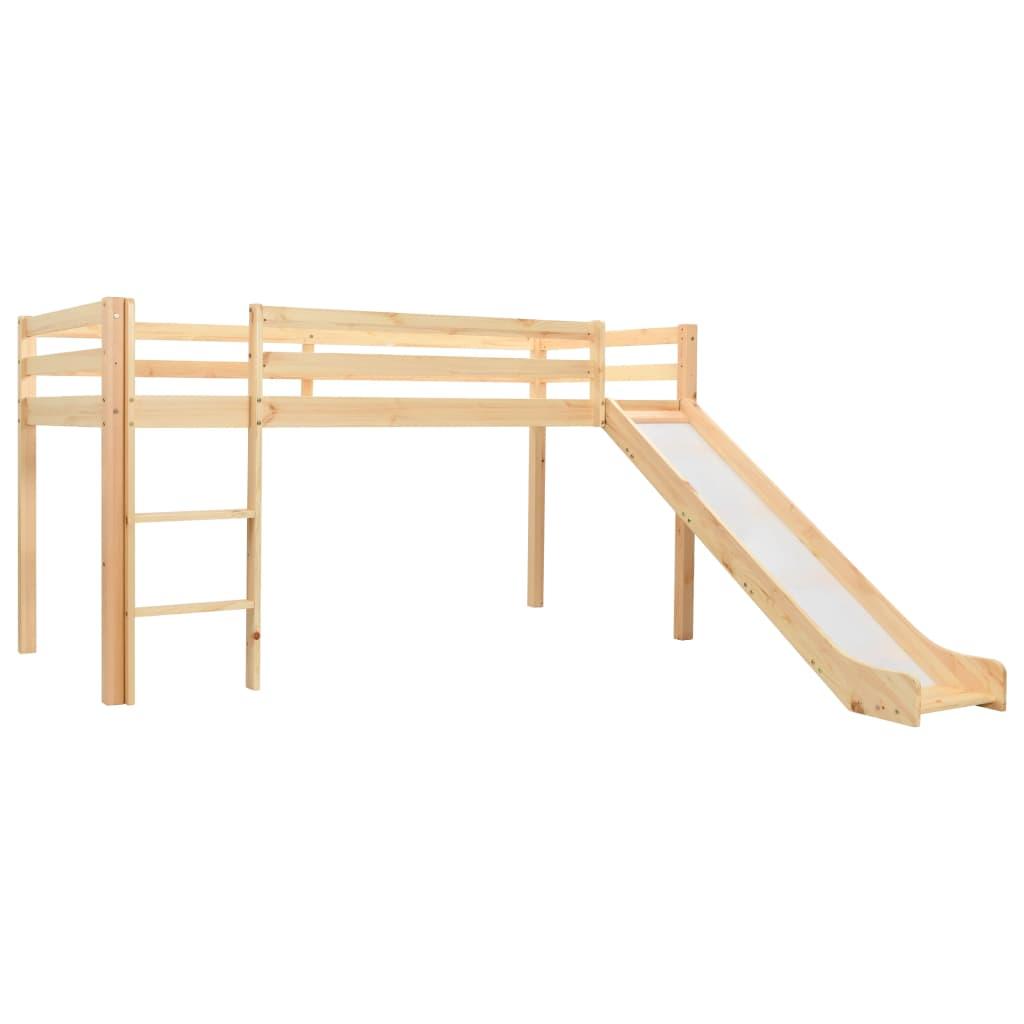 Ovaj dječji krevet na kat izrađen je od masivnog borovog drva i dizajniran je za zabavu