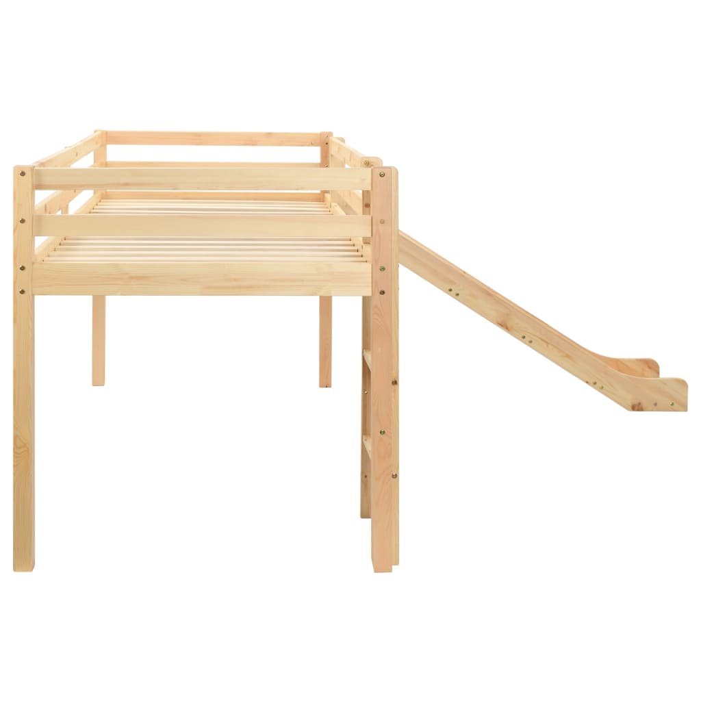 učenje ili pohranu. Krevet se isporučuje s rekreativnim toboganom. Tobogan i ljestve mogu se postaviti na lijevu ili desnu stranu. Krevet je prikladan za madrac dimenzija 90 x 200 cm. Napominjemo da madrac nije uvršten u dostavu.