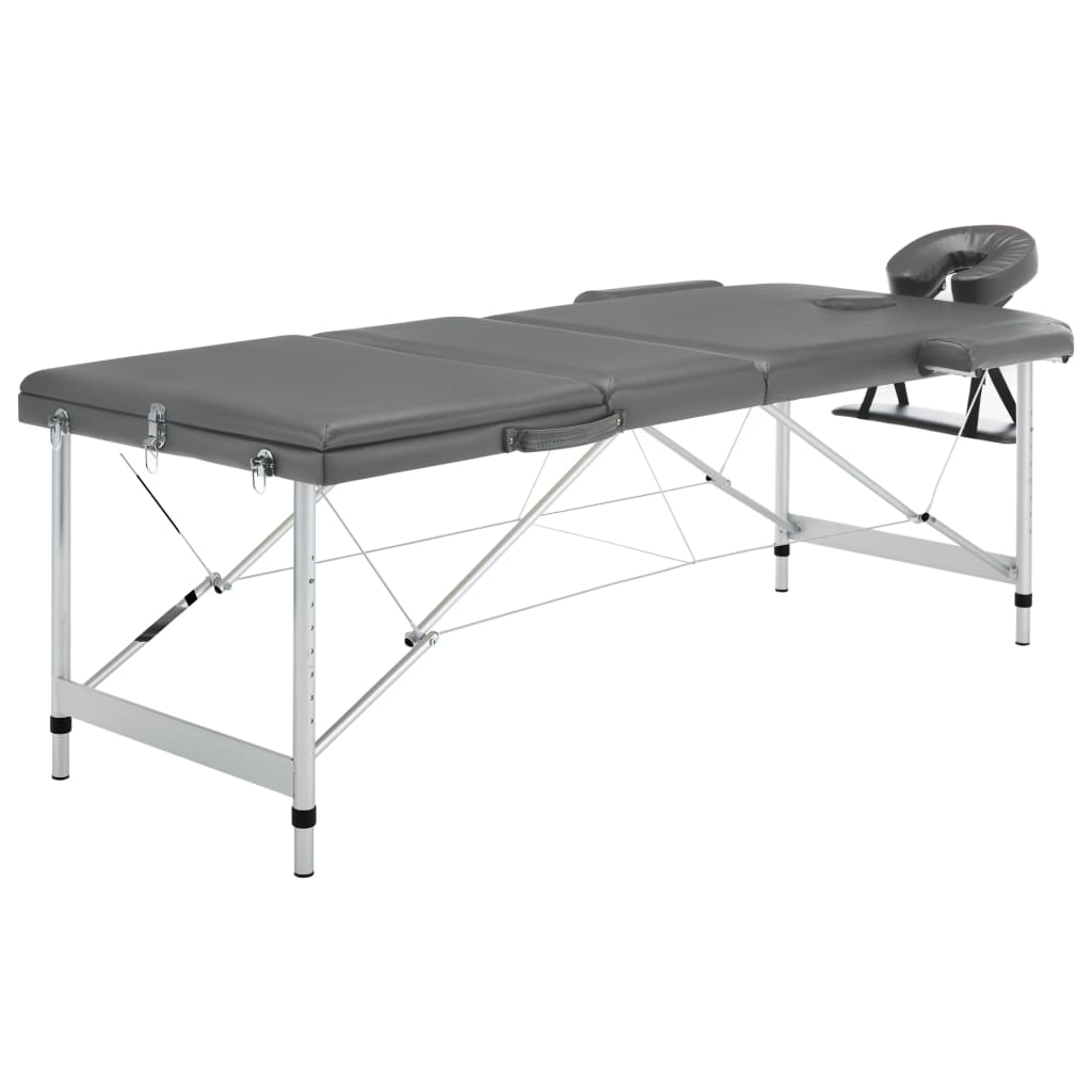 Sklopivi trodijelni stol za masažu s aluminijskim okvirom prikladan je za masažu