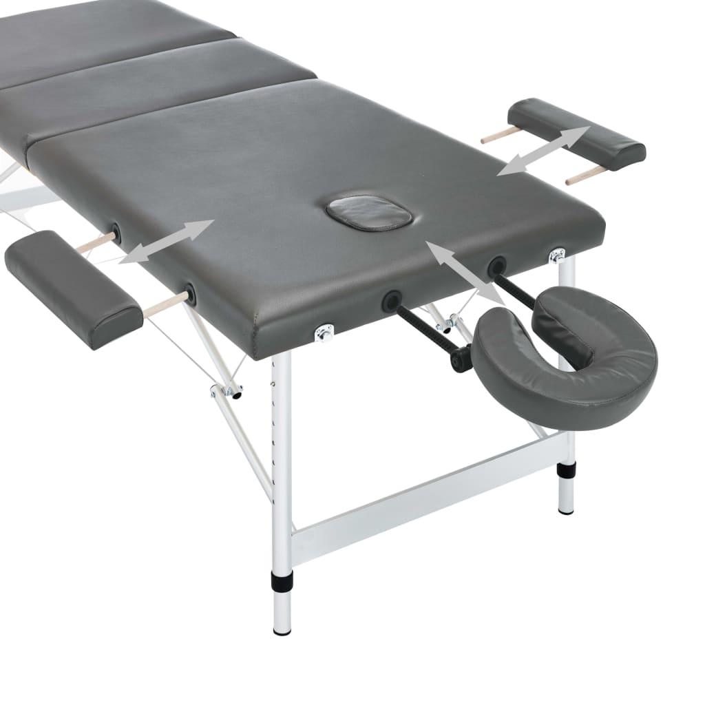 jastuk stola je vrlo udoban i otporan na dezinfekcijska sredstva i ulja za masažu. Nasloni za glavu i ruke su podesivi