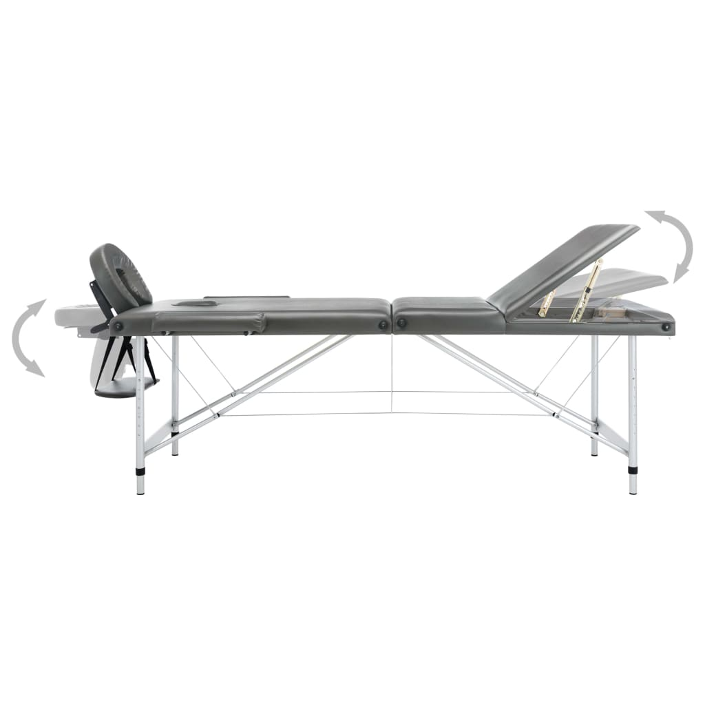 što omogućuje korisniku da udobno leži a terapeutu da bira željenu visinu rada. Stol se lako sastavlja. Može se sklopiti u oblik kovčega. Torba za nošenje uključena je u isporuku za jednostavan transport i pohranu.