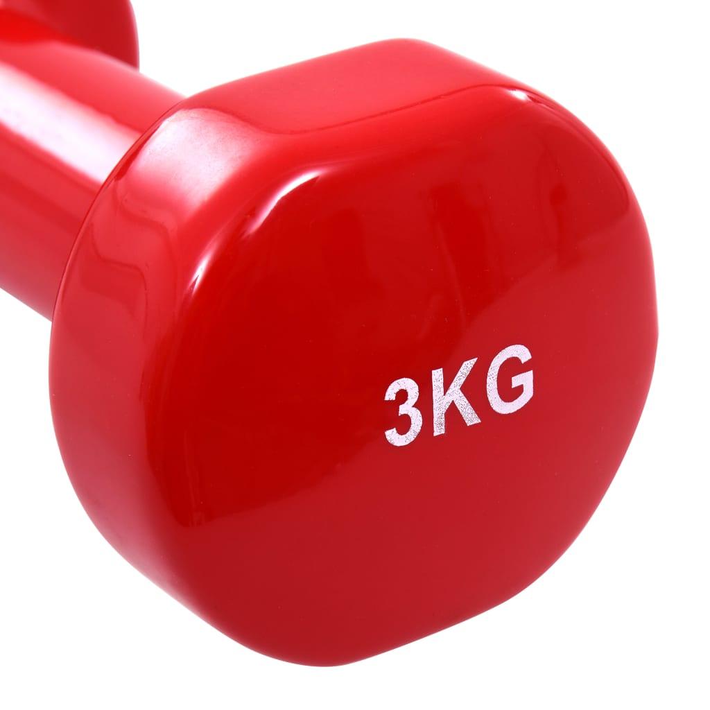 ramena i leđa. Set jednoručnih utega napravljen je od lijevanog željeza s vinilnom oblogom radi izdržljivosti i lakog čišćenja. Ergonomski oblikovane ručke omogućuju maksimalno hvatanje