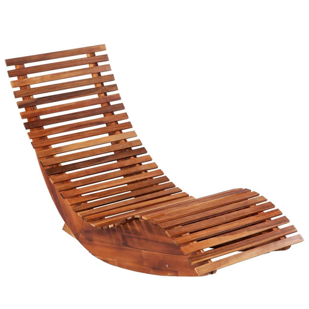 bit će atraktivan dodatak na otvorenom prostoru. Jedinstvena drvena struktura je prekrasna i ima rustikalni šarm. Ukrasit će bilo koji vanjski ili unutarnji prostor. Ležaljka je izrađena od tropski čvrstog drva akacije koje je otporno na vremenske utjecaje i vrlo izdržljivo. Imajući u vidu da je otporna na vremenske utjecaje