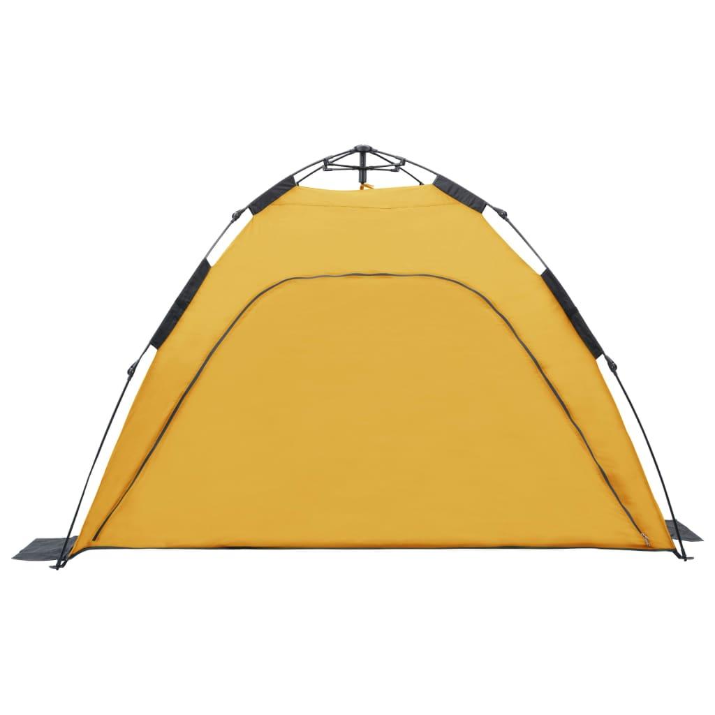 otpustiti sigurnosnu traku te rasklopiti šipke od staklene vune i tad će se šator raširiti poput kišobrana. Ovaj pokrov za šator napravljen je od prozračne poliesterske tkanine 180 T s PA oblogom