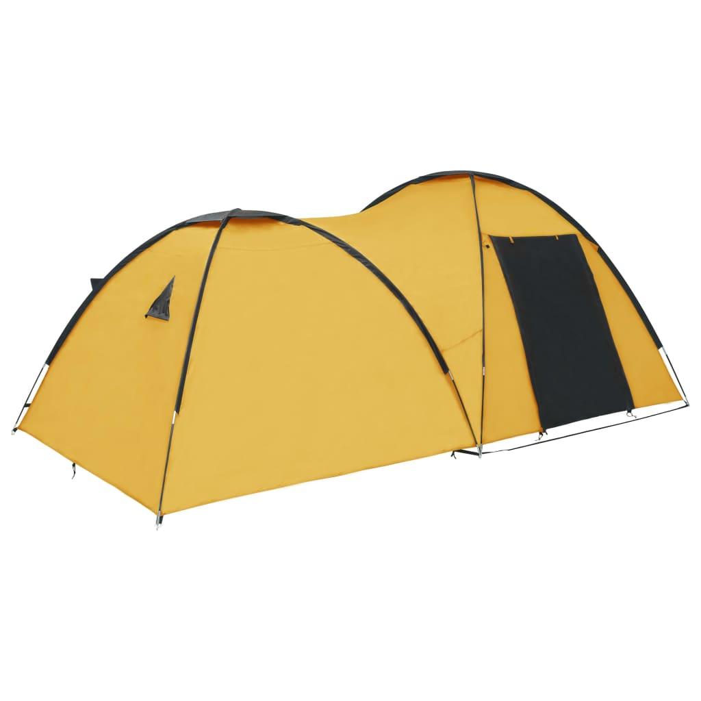 Ovaj šator za kampiranje ima dovoljno mjesta za najviše 4 osobe s prtljagom. Savršen je za obiteljski kamp s djecom ili za vikend s prijateljima. Ovaj pokrov za šator napravljen je od prozračne poliesterske tkanine 180 T s PA oblogom
