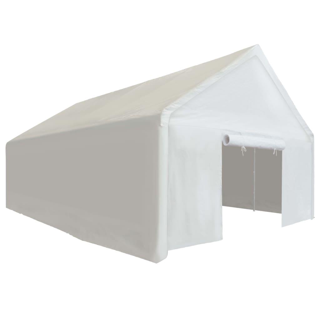 zbog čega su njegov krov i bočni zidovi vodootporni. Dva panela s vratima na dva kraja šatora mogu se zarolati radi lakog ulaska. Okvir je izrađen od pocinčanog čelika