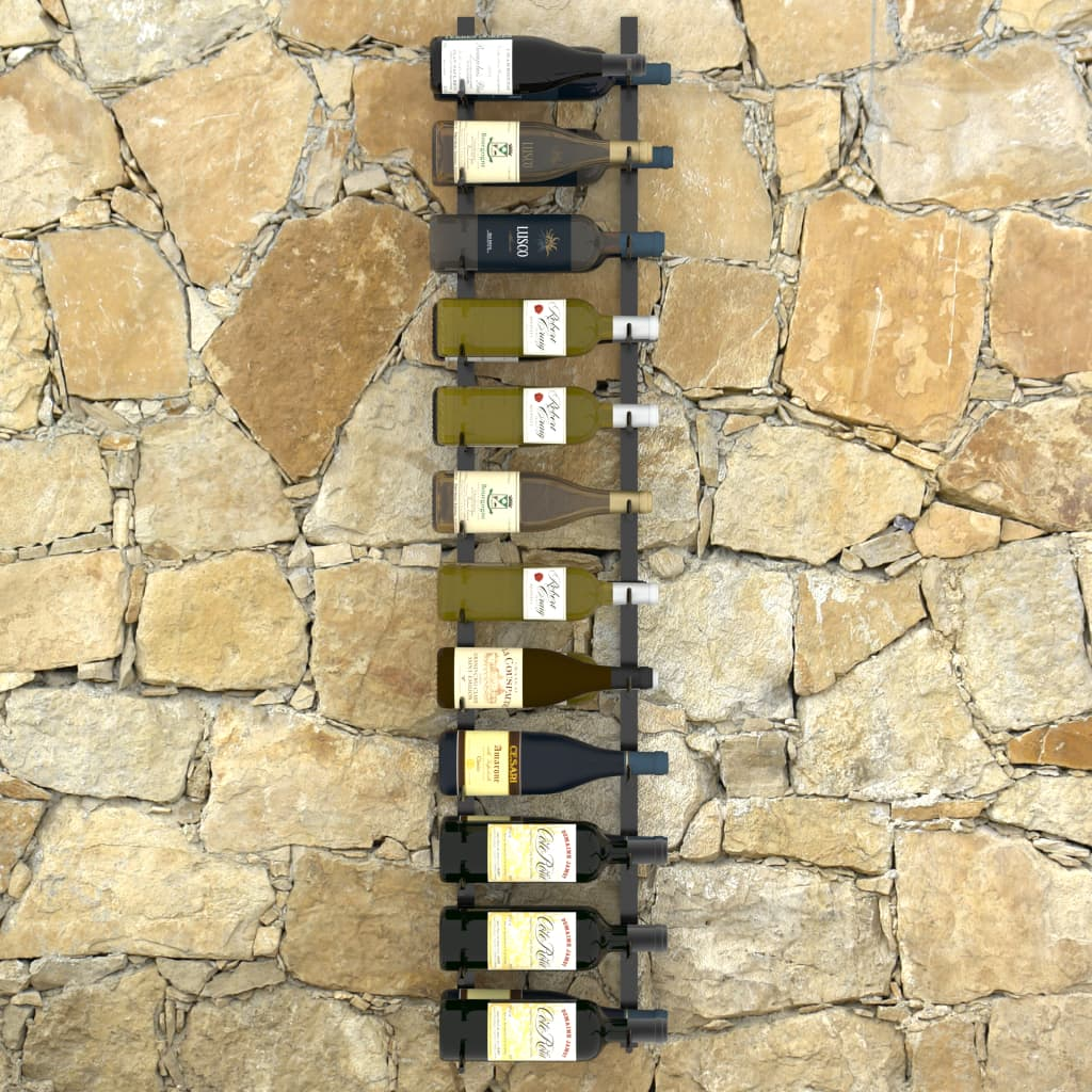 dodaje dašak modernog izgleda vašem prostoru za boravak. Ovaj stalak za vino može smjestiti do 24 boce vina. Napravljen je od željeza obloženog prahom